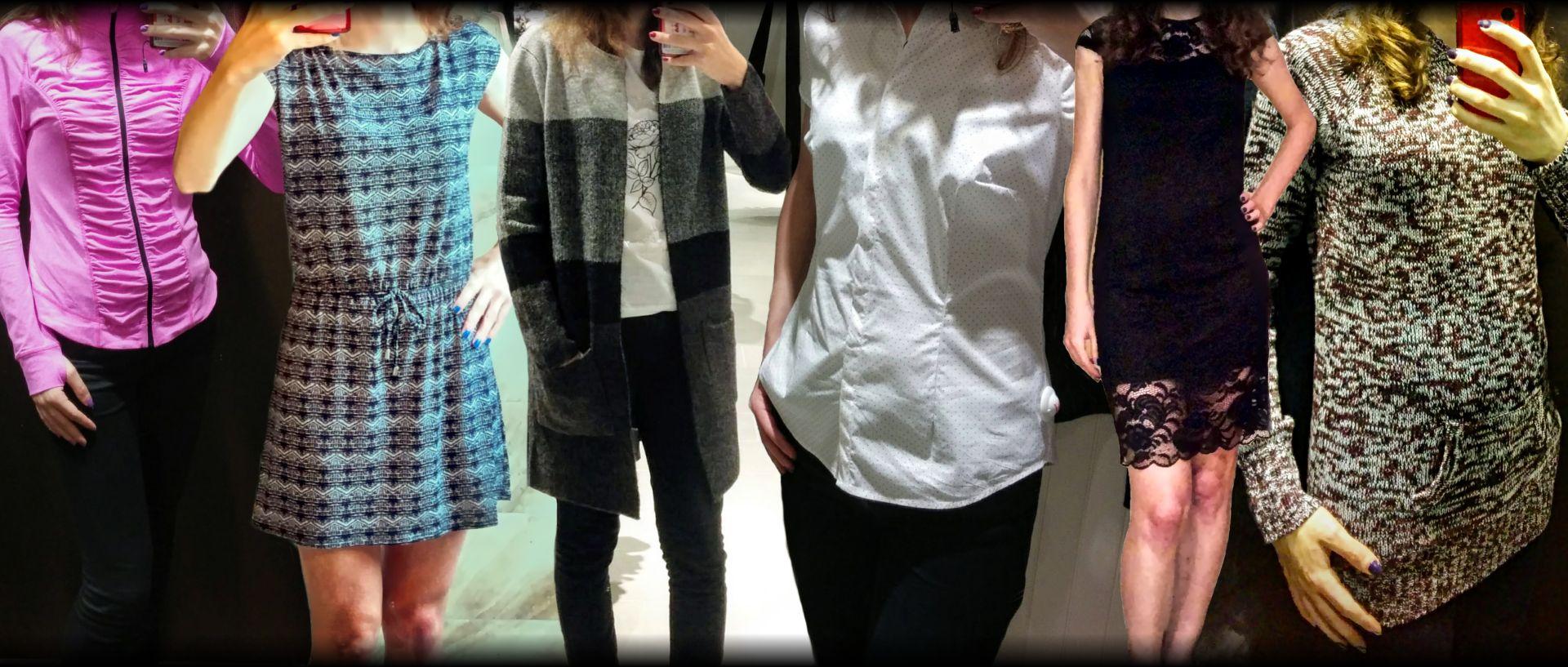 W sześciu osobach - różne ubrania