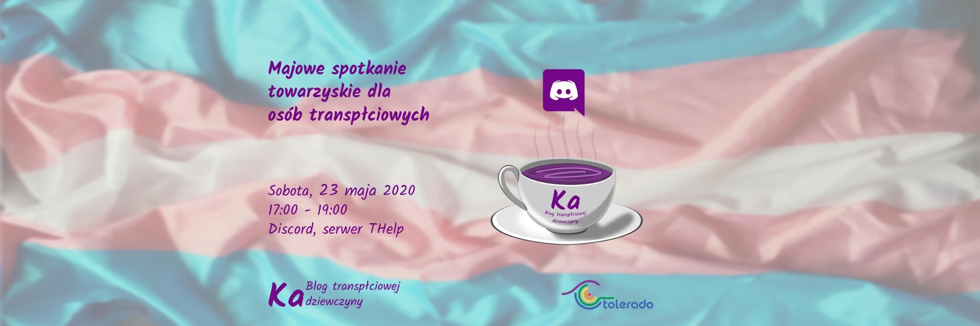 Majowe spotkanie towarzyskie dla osób transpłciowych 23.05.2020